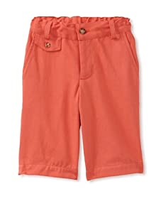 Peas and Queues Boy's Oliver Shorts (Orange)