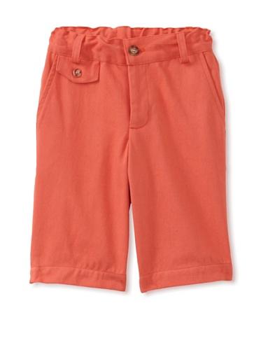 Peas and Queues Boy's Oliver Shorts (Orange)