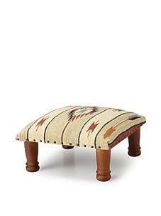 La Boheme Upholstered Foot Stool (Beige/Red)