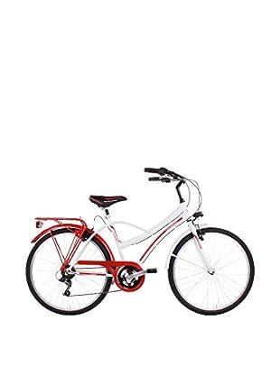 SCHIANO Fahrrad 26 Cruiser 306 weiß/rot
