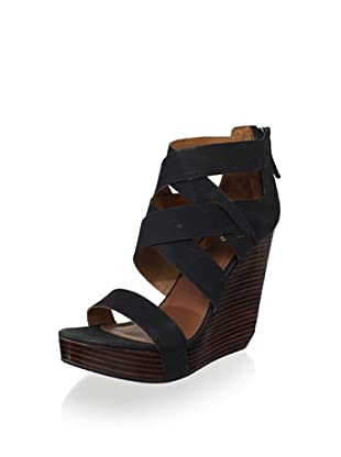Matiko Women's Stacey Wedge Sandal (Black)