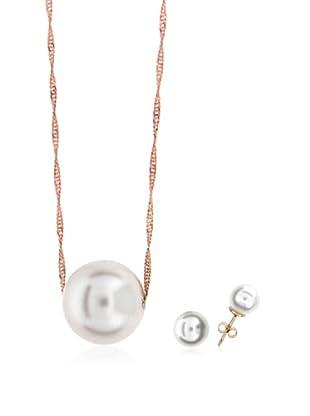 Silver One Juego Passion Perla Oro Rosa