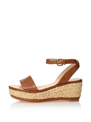 Dolce Vita Women's Helen Wedge Sandal (Tan Leather)