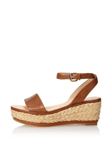 Dolce Vita Women's Helen Wedge Sandal (Tan Leather)