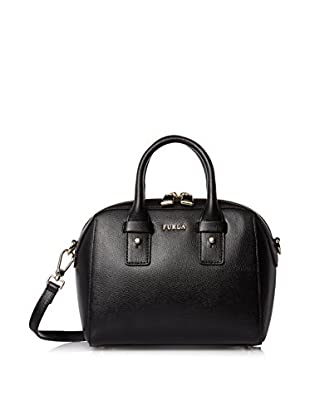 Furla Women's Allegra Mini Satchel Ares, Onyx, One Size