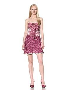 D&G by Dolce & Gabbana Women's Strapless Chiffon Dress (Fuchsia)