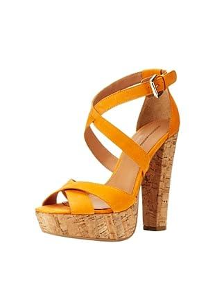Madison Harding Women's Jackson Strappy Platform Sandal (Tangerine)