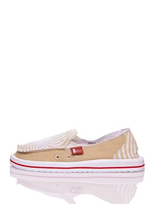 Wax Mocasines Playa Summer Line (Beige / Blanco)
