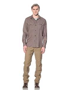 Steven Alan Men's CPO Shirt Jacket (Brown)