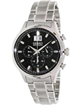 Seiko Dress Analog Black Dial Men's Watch - SPC083P1