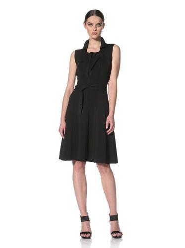 Yigal Azrouel Women's Sleeveless A-Line Shirt Dress (Black)