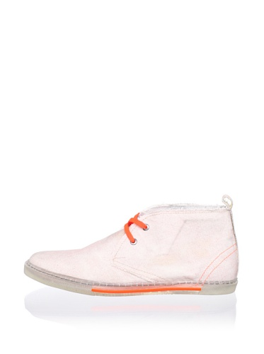 Antony Morato Men's Canvas Mid Sneaker (Orange)