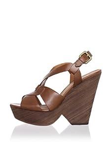 Ash Women's Roxy Bis Figure 8 Wedge Sandal (Camel)