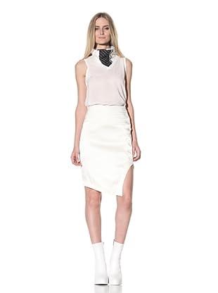 Ann Demeulemeester Women's Asymmetrical Double-Button Skirt (Off-White)