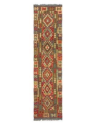 Hand-Woven Izmir Kilim, Brown/Red, 2' 6