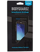 BodyGuardz - UltraTough Clear ScreenGuardz, Crystal Clear Anti-Microbial Screen Protection for Galaxy S6 Active
