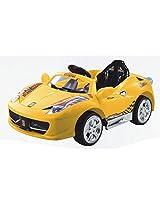 Dates Shoppe Saluja Toys Yellow Ferrari Car / Battery Operated Car