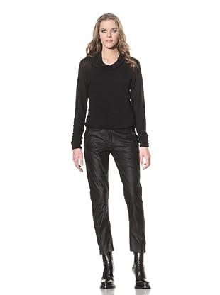 Ann Demeulemeester Women's Leather Trousers (Black)
