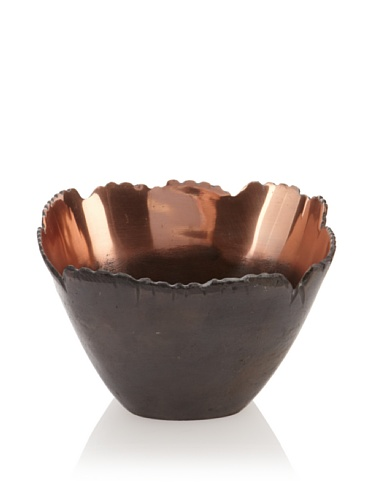 Shiraleah Large Bark Squared Recycled Aluminum Bowl (Copper)