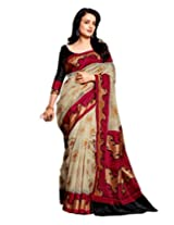 Saree Art Bhagalpur Silk Printed Saree RKVI11447 (RKVI11447)