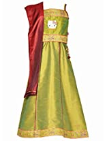 Hello Kitty Girls Ethnic Wear Set - Green (1 - 6 Years)