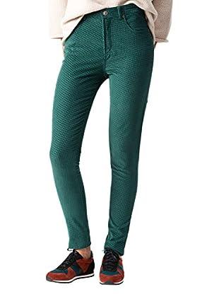 ETIEM 5BOLS.Pitillo, Pantalones para Mujer, Verde Botella 44, 36