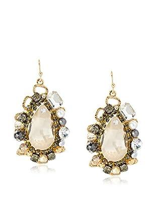 Leslie Danzis Bold Teardrop Embellished Chandelier Earrings