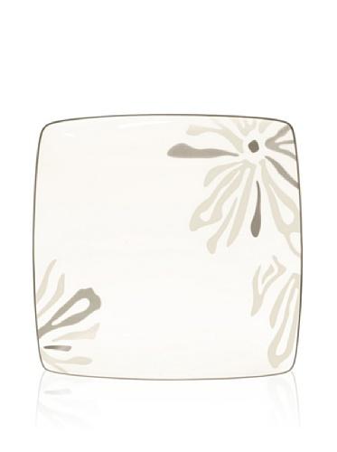 Noritake Everyday Elegance Campania Large Square Plate (White/Taupe)