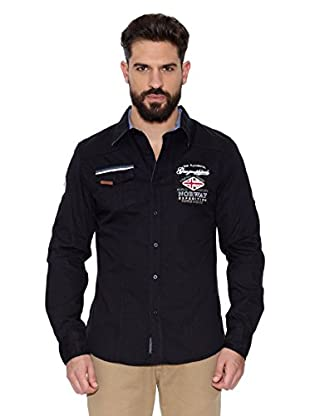 Geographical Norway Camisa Hombre Zactica Men Ls 404 (Negro)