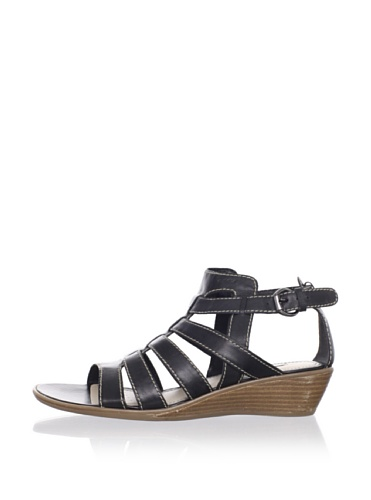 Geox Women's Donna Kalima Gladiator Sandal (Black)