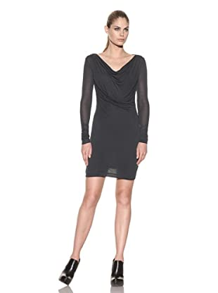 Improvd Women's Twisted Front Knit Dress (Emerald)