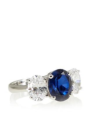Crislu Triple Stone Sapphire Ring