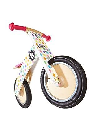 Kiddimoto Laufrad Premium Kurve weiß/mehrfarbig