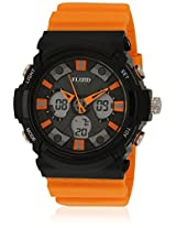 Dmf-008-Or01 Orange/Black Analog & Digital Watch Flud