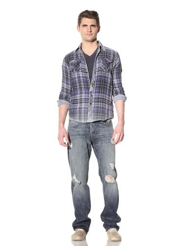 Artisan de Luxe Men's Blue Smith Button-Up Shirt (Bleach Blue)
