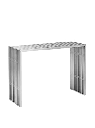 Zuo Novel Console Table, Stainless Steel