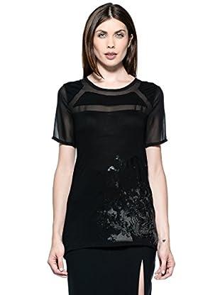 Annarita N Camiseta Inserti (Negro)