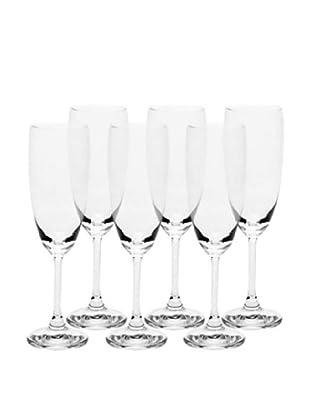 Alessi Set of 6 L'Esseci 4.2-Oz. Champagne Flutes