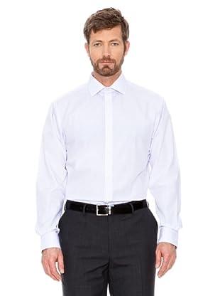 Cortefiel Hemd Gestreift (Blau/Weiß)