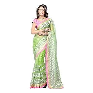 Badjatya Sons Bollywood Designer Saree - Green