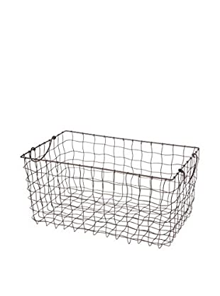 Skalny Wire Rectangle Basket With Drop Handles, Brown
