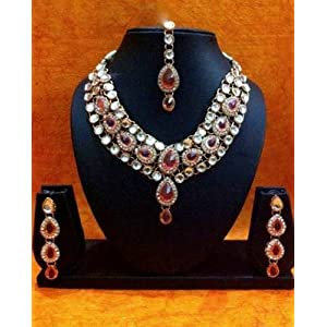 Mirraw Kundan Like Work Necklace Set