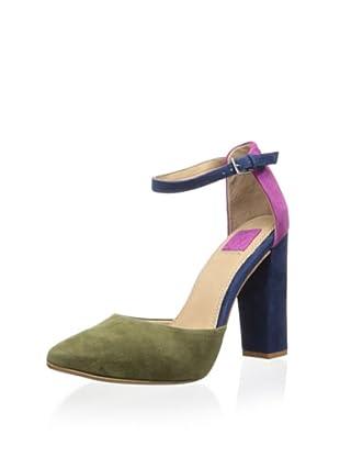 Ella Moss Women's Janie Ankle Strap Pump (Emerald)