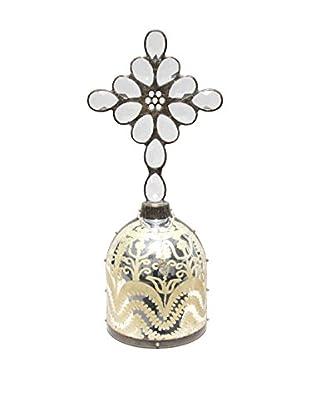 Theresa Seidel Warrior Mercury Glass Accent, Clear/Black/Silver