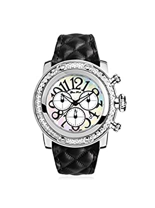 Glam Rock Women's GR11158D Miami Black/Mother of Pearl Genuine Leather Watch