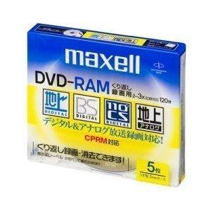 【クリックで詳細表示】maxell 録画用 DVD-RAM 120分 3倍速対応 5枚 5mmケース入 DRM120ES.S1P5S: パソコン・周辺機器