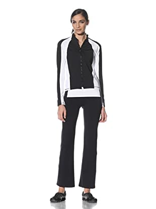 Body Up Women's Zip-Front Endurance Jacket (Black/White)