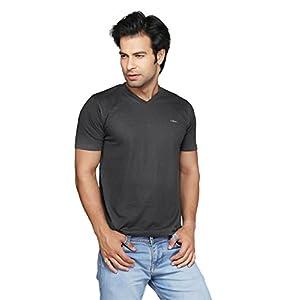 Clifton Men's V-Neck T-shirt - Charcoal Melange