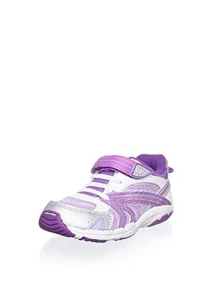 Stride Rite Cece Sneaker (Toddler) (White/Purple)