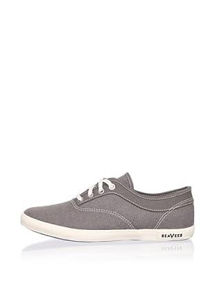 SeaVees Women's Volunteer Plimsoll Sneaker (Tin Grey)